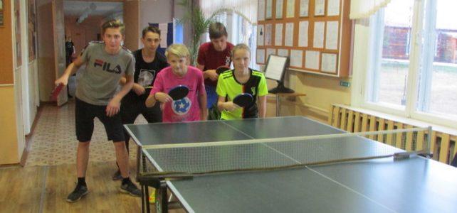 Школьные соревнования по настольному теннису
