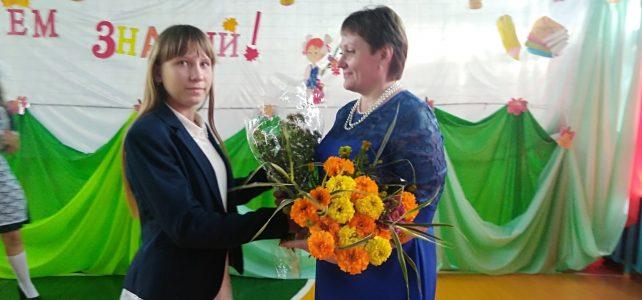 Акция  «Цветы учителям»
